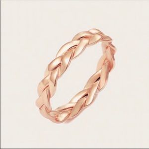 Jewelry - Rose Gold Braided Ring Sz 6